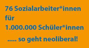 Integrationstopf eingespart >>> nur 76 Posten für Schulsozialarbeiter  Bild:spagra