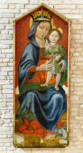 Santa Maria del Lago, Moscufo. Madonna col Bambino, Andrea De Litio