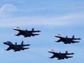 Russisches Militär fliegt ungewöhnliche Manöver über Europa. Foto: Sergei Ilnitsky/Archiv