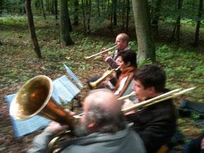 Posaunenchor beim Waldgottesdienst 2012