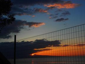 Sonnenuntergang im Paradies Camping von Letojani