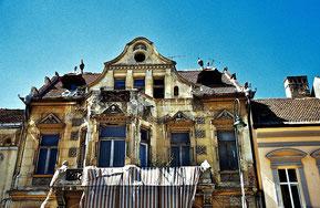 Stattliche Patrizierhäuser vor der Renovierung