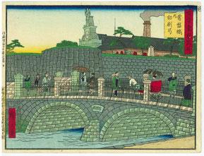 Tokiwabashi in der Meiji-Zeit, Foto von Herrn Akio Kurebayashi