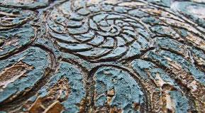 Carborundumdruckplatte-Ammonit