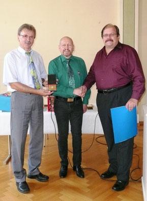 Bild von links: Hans N. Schopf, Reiner Köpf, Lando Lampert