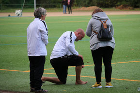 Schwer am Fuß verletzt: Trainer Lilge