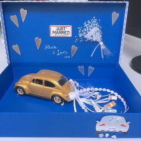 Geldgeschenk zur Hochzeit Inspiration Geschenkidee DIY Auto