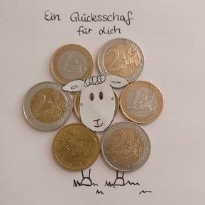 kreatives Geldgeschenk als DIY mit Münzen Geschenkidee 15 Geburtstag