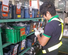 Warehouseman prepare items