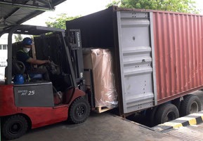 Unloading from Container