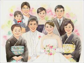 家族 似顔絵 6