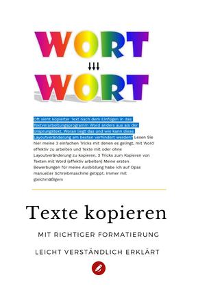 Texte kopieren Word #computer #tricks #orgaBine