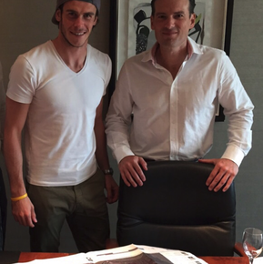 Gareth Bale and Kevin Holinaty, CEO Southwest Greens International