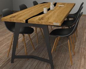 pied de table en métal style industriel