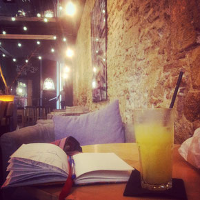 A place where I can write down my thoughts. Alsur Cafe in El Born in Barcelona.