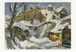 Rafael Chwoles. Vilniaus kiemas žiemą, 1958 / A Vilnius courtyard in winter