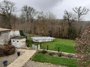 Travaux de construction de la piscine au Château la Hitte en Nouvelle Aquitaine