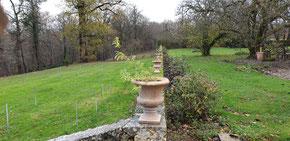 Le jardin clos du Château La Hitte en Nouvelle Aquitaine