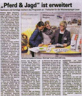 """Artikel """"Pferd & Jagd 2013"""""""