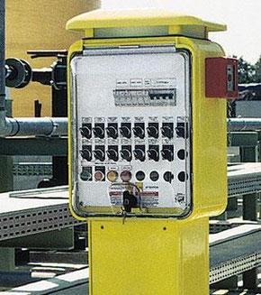 Torretas de suministro de luz y agua personalizados
