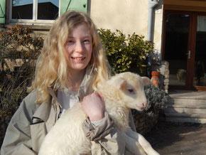 Une journée à la ferme pour Anouk  pendant les vacances de février