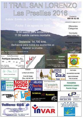 II TRAIL SAN LORENZO-LAS PRESILLAS -  Las Presillas, 07-08-2016
