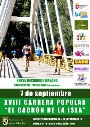XVIII CARRERA EL CACHON DE LA ISLA - Valencia de D. Juan, 07-09-2019