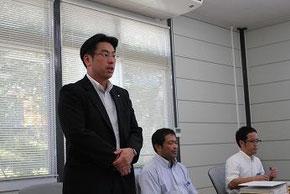女川町役場で須田町長の説明を受ける