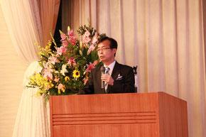 開会の社長挨拶