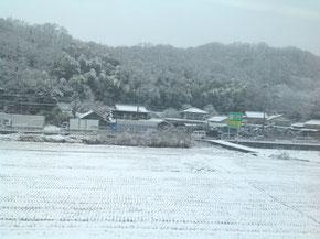雪化粧した土讃線沿線の景色