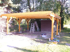 Bausatz Flachdach carport eco - 6,00m x 5,50m