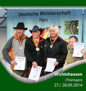 Gert Niendorf bei der DM Feld/ Wald am 27./ 28.09.2014 in Wichtshausen