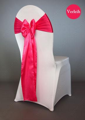 Stuhlschleifen in Farbe Pink mieten