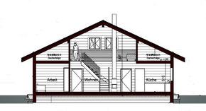 Großes Holzhaus - Individuelle Planung - Architekt - Blockhaus - Schnitt - Einfamilienhaus - Grabow - Wohnhaus - Neubau - Musterhaus - Niedersachsen - Hannover - Holz - Dömitz - Hagenow - Elbtalaue - Lüneburg - Schwerin - Hamburg - Dannenberg - Neubau