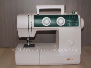 AEG 791, Freiarm-Haushaltsnähmaschine mit Einbaumotor, Hersteller: verm. Veritas-Beteiligungs GmbH, in China (Bilder: Th. Schumacher)