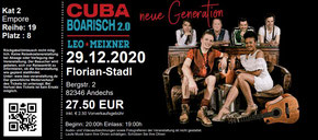 cuba boarisch tickets