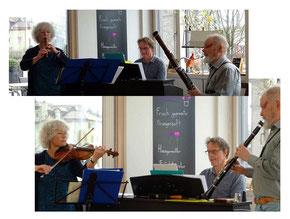 Ursula Eugster  Violine  Blockflöte  Roland Keller  Klarinette  Fagott  Thomas Osterwalder  Klavier