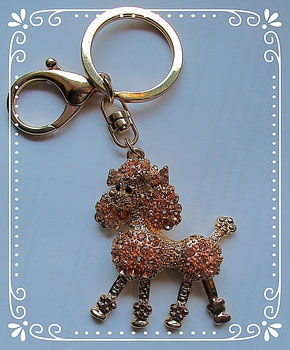 Pudel Anhänger Taschenanhänger Schlüsselanhänger Hund Poodle