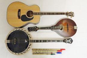 アイリッシュ音楽 楽器 ギター バンジョー マンドリン
