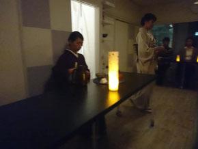 私は四客さま以降のお客さまにお茶を差し上げました