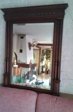 relooking de meuble le mans sarthe grand miroir trumeau beige patine le perche