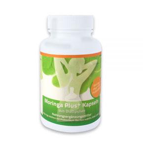 Produkt Moringa Plus: Menge: 378 mg (90 Kapseln)