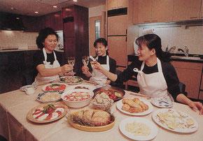 キッチン札幌市手稲区皆で乾杯