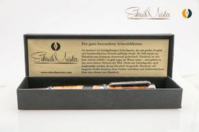 SchreibMeister® Verpackung mit Zertifikat