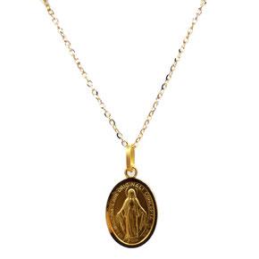 Collana con Medaglia Madonna Miracolosa in oro 18kt