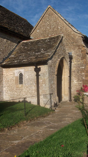 Forest Marble - stone roof, walling stone and paving stone - Dorset village church