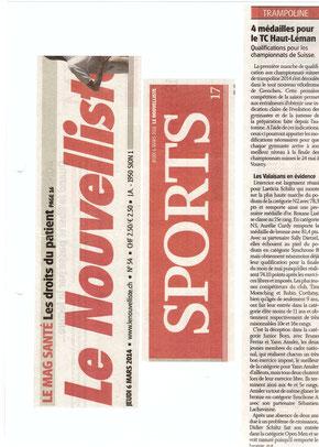 Le Nouvelliste, 06.03.14: Grenchen