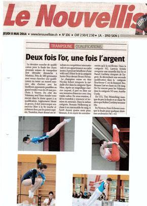 Le Nouvelliste, 08.05.14: Muttenz