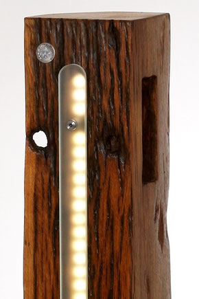 Licht Objek, Design, Leuchte, Lampe, Altholz, Glas, LED-1