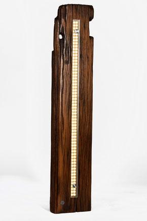 Wandlampe im retro vintage Stil, alte Eiche